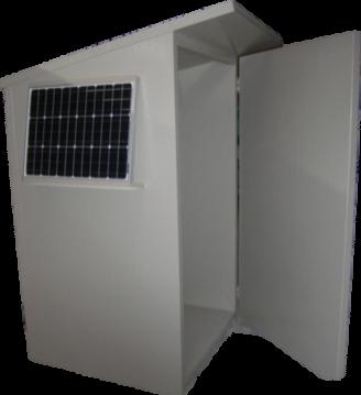 Solarpumpstation aus Hohlkammerplatten
